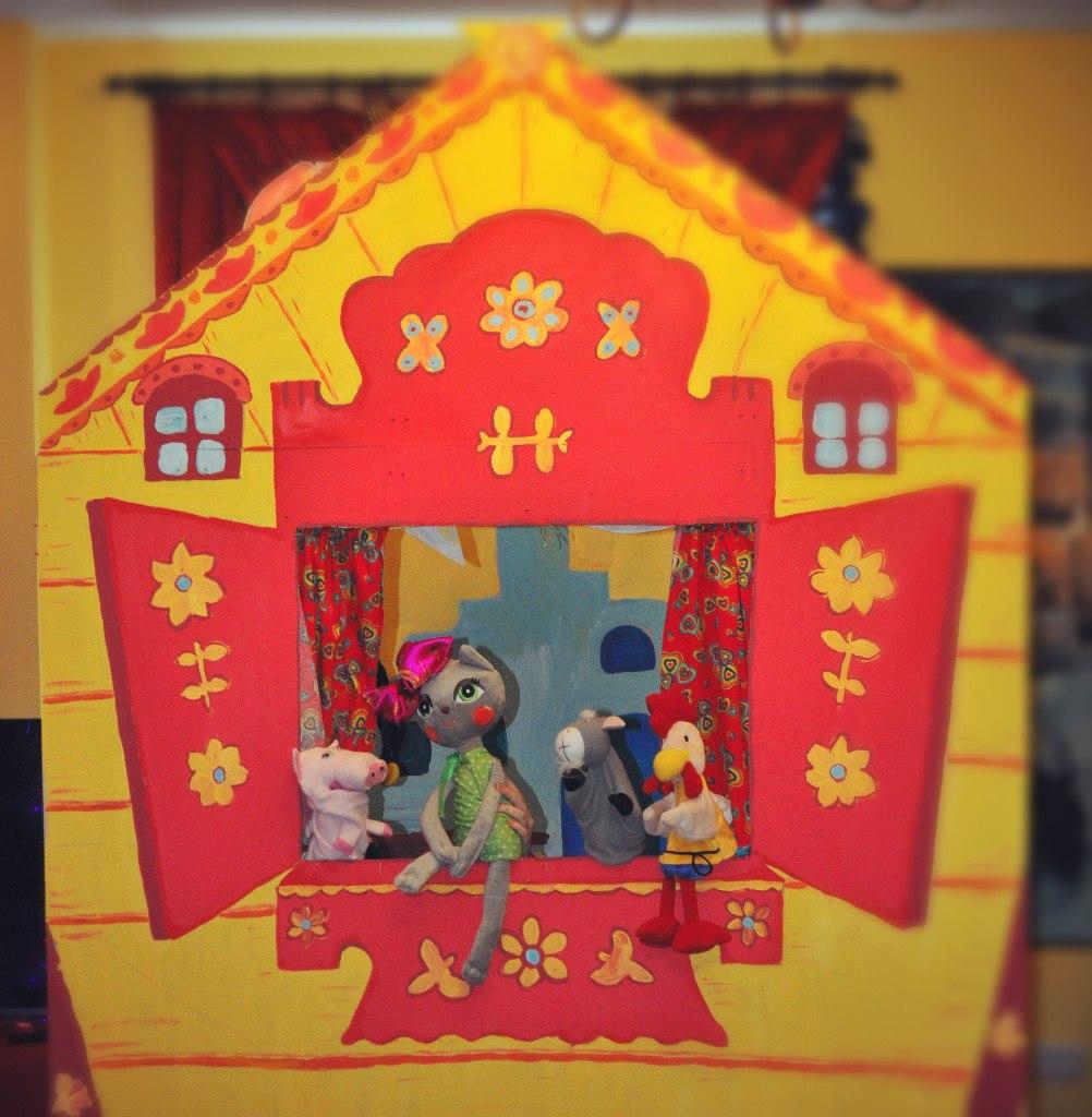 Кошкин дом кукольный театр своими руками 69