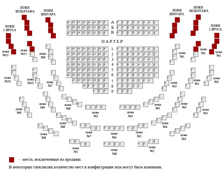 театр: Схема зала