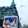 "Postcard ""Snowman - ice-cream seller near Singer House"""